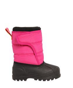 RALPH LAUREN CHILDRENSWEAR | Nylon Canvas Rubber Snow Boots