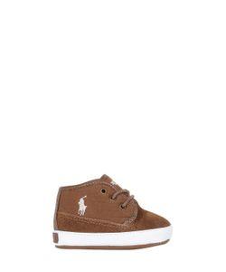 RALPH LAUREN CHILDRENSWEAR | Suede Herringbone Twill Sneakers