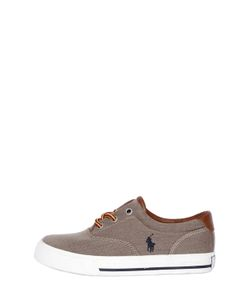 RALPH LAUREN CHILDRENSWEAR | Cotton Herringbone Sneakers
