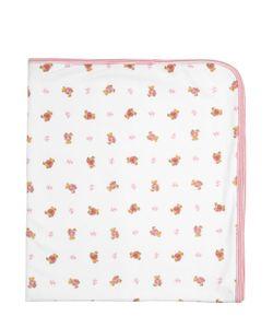 RALPH LAUREN CHILDRENSWEAR | Bear Print Doubled Cotton Jersey Blanket