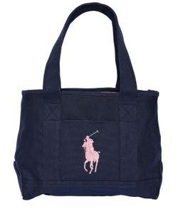RALPH LAUREN CHILDRENSWEAR | Logo Embroidered Cotton Canvas Tote Bag