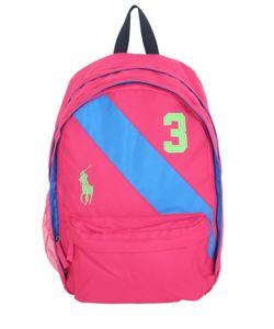 RALPH LAUREN CHILDRENSWEAR | Logo Embroidered Nylon Backpack