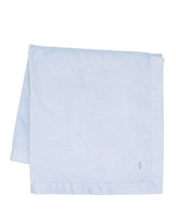 RALPH LAUREN CHILDRENSWEAR | Embroidered Logo Cotton Jersey Blanket