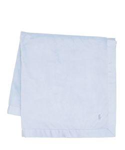 RALPH LAUREN CHILDRENSWEAR | Embroidered Logo Cotton Jersey Blanket