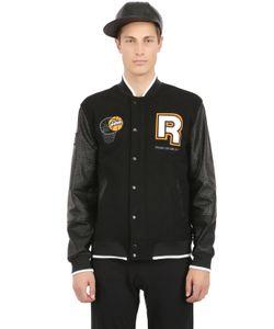 Reebok   Wool Nylon Pump Varsity Jacket