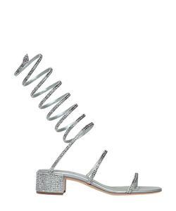 RENÈ CAOVILLA | 40mm Satin Swarovski Wrap Sandals
