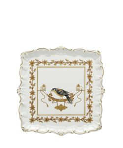 RICHARD GINORI 1735 | Voliere Small Square Porcelain Platter
