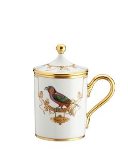 RICHARD GINORI 1735 | Voliere Perroquet Nestor Mug With Lid
