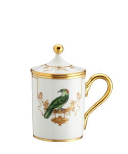 RICHARD GINORI 1735 | Voliere Coucou Didrie Mug With Lid