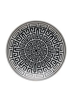 RICHARD GINORI 1735 | Labirinto Black Porcelain Venezia Plate