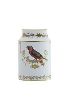 RICHARD GINORI 1735 | 28cm Voliere Oval Ceramic Vase
