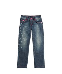 RICHMOND JUNIOR | Washed Printed Stretch Jeans