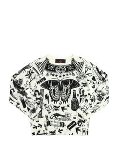 RICHMOND JUNIOR | Tattoo Printed Wool Sweater