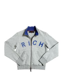 RICHMOND JUNIOR | Rich Printed Cotton Zip-Up Sweatshirt