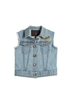 RICHMOND JUNIOR | Embroidered Patches Cotton Vest