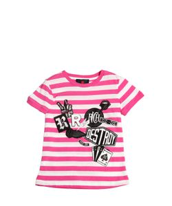 RICHMOND JUNIOR | Printed Striped Cotton Jersey T-Shirt