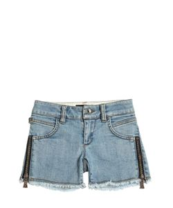 RICHMOND JUNIOR | Embroidered Patches Stretch Shorts