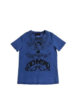 RICHMOND JUNIOR | Logo Printed Cotton Jersey T-Shirt