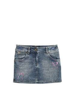 RICHMOND JUNIOR | Painted Stretch Cotton Mini Skirt