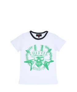 RICHMOND JUNIOR | Skull Printed Cotton Jersey T-Shirt