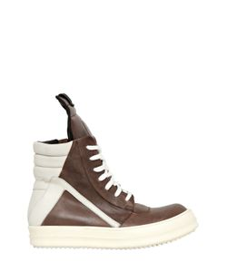 Rick Owens | 20mm Leather High Top Sneakers