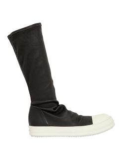 Rick Owens | Stretch Leather Sneakers