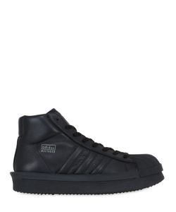 RICK OWENS BY ADIDAS | Mastodon Soft Leather Mid Top Sneakers