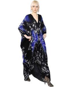 Roberto Cavalli | Star Floral Print Silk Chiffon Caftan