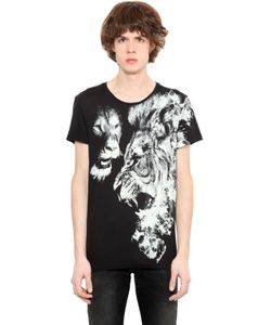 Roberto Cavalli | Lion Printed Cotton Jersey T-Shirt