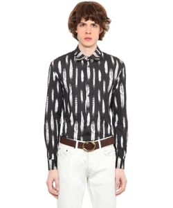Roberto Cavalli | Feather Printed Cotton Jersey Shirt