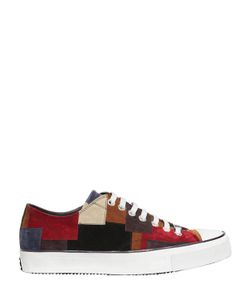 Roberto Cavalli | Patchwork Suede Leather Sneakers
