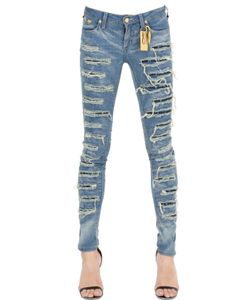 Robin'S Jean | Skinny Destroyed Washed Denim Jeans