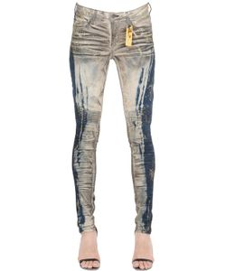 Robin'S Jean | Slim Washed Denim Biker Jeans