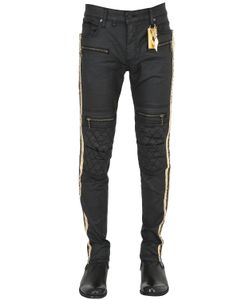 Robin'S Jean | 16cm Waxed Cotton Biker Jeans