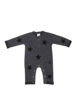 ROCK STAR BABY | Star Printed Cotton Romper