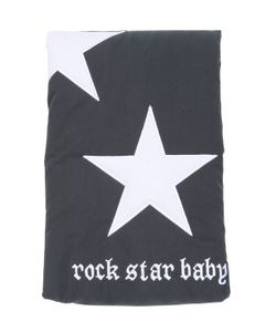 ROCK STAR BABY | Star Printed Padded Peach Cotton Blanket