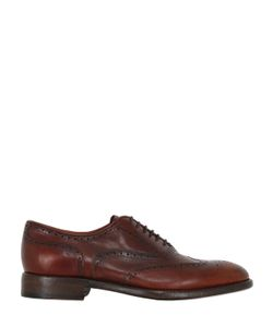 Rolando Sturlini | Washed Leather Brogue Oxford Shoes