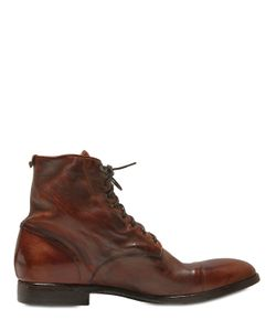 Rolando Sturlini | Washed Leather Lace-Up Boots