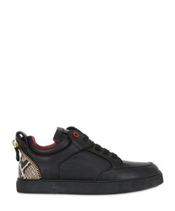 ROYAUMS | Tressor Zip Python Leather Sneakers