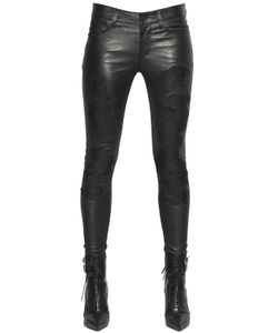 RTA | Destroyed Effect Stretch Leather Pants