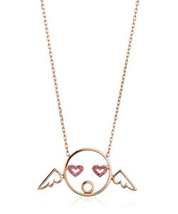 RUIFIER | Cupid Pendant Necklace With Diamonds