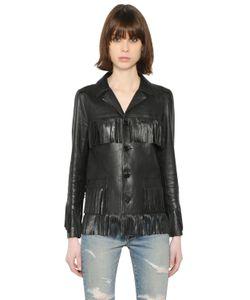 Saint Laurent | Fringed Nappa Leather Jacket