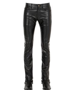 Saint Laurent | 17.5cm Stretch Faux Leather Jeans