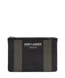 Saint Laurent | Beach Cotton Canvas Clutch