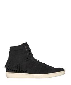 Saint Laurent | Fringed Suede High Top Sneakers