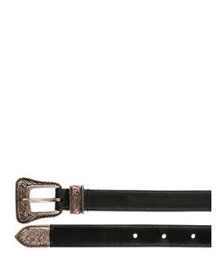 Saint Laurent | 20mm Western Buckle Leather Belt