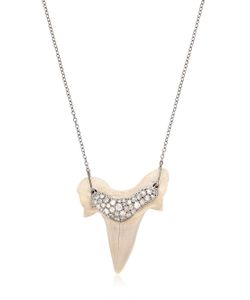 SAMIRA13 | Shark Tooth Necklace With Diamonds