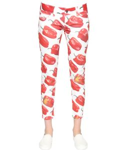 Sangue | Bell Pepper Printed Cotton Denim Jeans