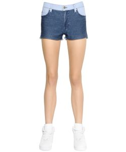 SANSOVINO 6 | Patchwork Cotton Denim Shorts