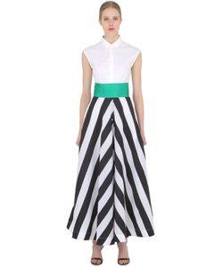 SARA ROKA | Striped Cotton Poplin Shirt Dress